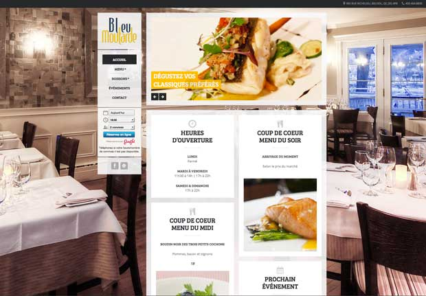 Conception de site Internet de restaurant