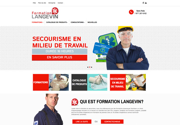 Formation Langevin – Site PrestaShop