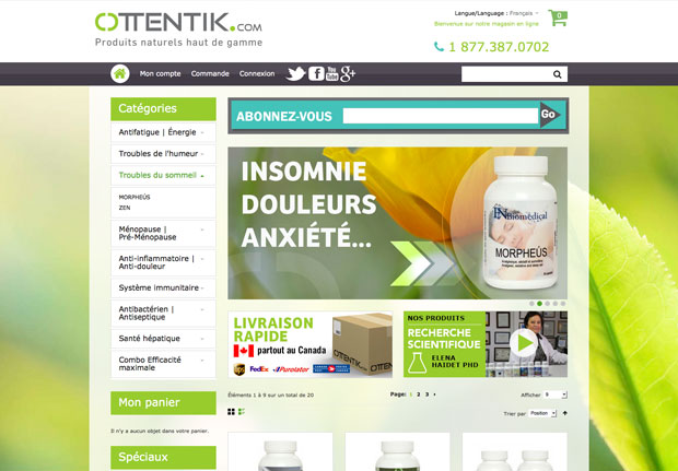 Boutique Ottentik – Site Magento